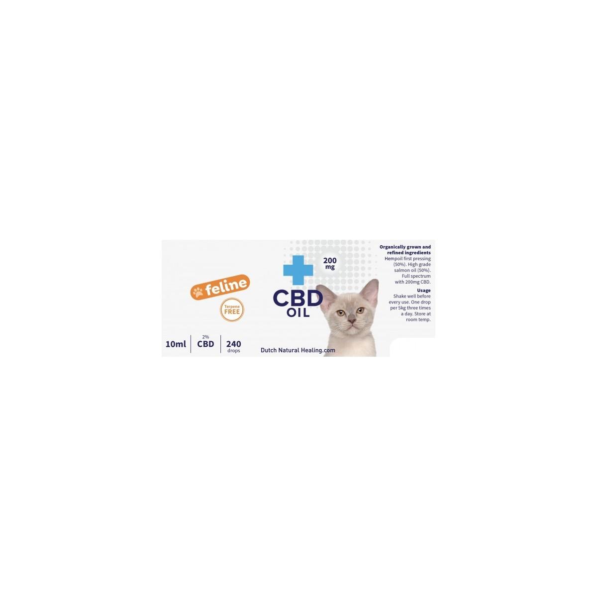 Huile de CBD pour chats 10ml - 2% (200mg)  - 1
